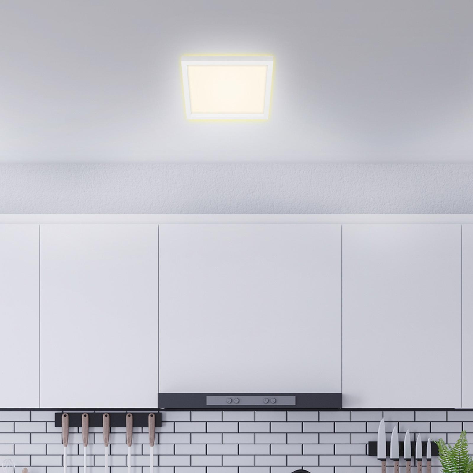 Briloner LED stropní světlo 7362, 29 x 29 cm, bílá
