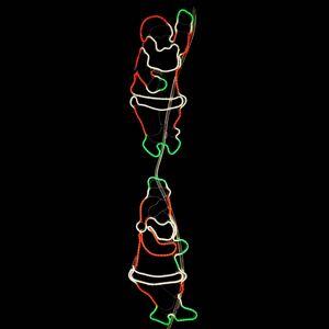 STAR TRADING Šplhající Santa Claus - LED vnější výzdoba NeoLED