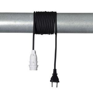 STAR TRADING E14 patice Lacy s kabelem, černá a bílá