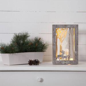 STAR TRADING Fauna LED dekorativní světlo, hranaté, výška 28 cm