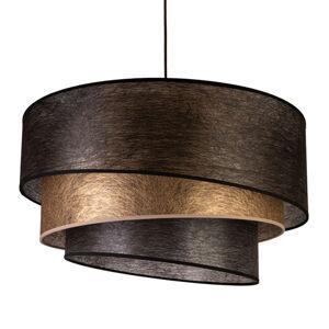 EULUNA Textilní závěsné světlo Trio, černá/zlatá