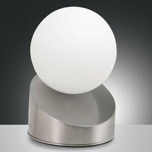 Fabas Luce LED stolní lampa Gravity, nikl