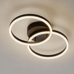 Fabas Luce LED stropní světlo Giotto, dva zdroje, černá