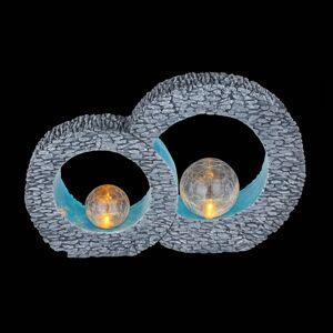 Globo LED solární venkovní dekorace 36522, šedá modrá