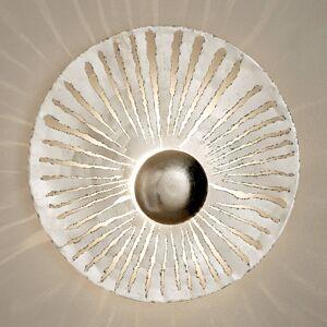 J. Holländer LED nástěnné světlo Pietro kulatý tvar, stříbrné