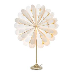 Markslöjd Dekorační hvězda Marigold stolní lampa, bílá/mosaz