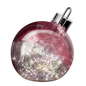 Sompex Dekorační světlo Ornament, tmavě červená, Ø 30 cm