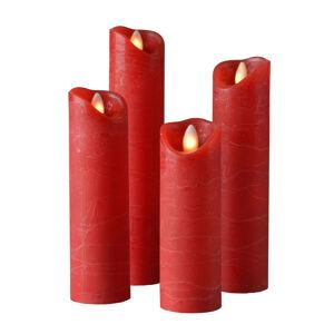 Sompex Válcová svíčka Shine LED, 4ks, Ø 5 cm, červená
