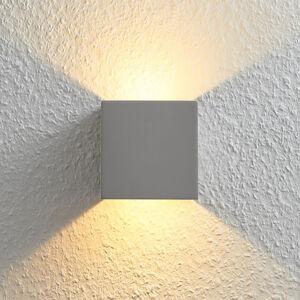 Lampenwelt.com LED světlo Cataleya beton Up&Down 11,5x11,5 cm