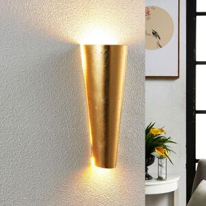 Lindby Designové nástěnné LED světlo Conan ve zlaté