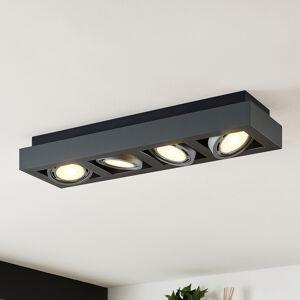Arcchio LED stropní osvětlení Ronka 4zdrojové dlouhé šedé