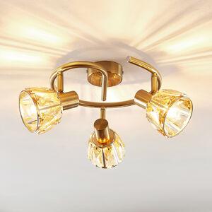 Lindby Lindby Kosta stropní světlo, třížár. mosaz
