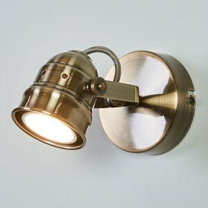 Lindby LED nástěnné svítidlo Leonor, patinovaná mosaz