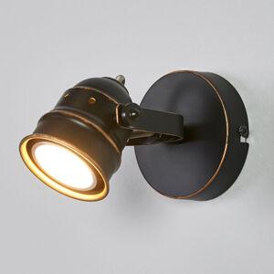 Lindby Černo-zlaté bodové osvětlení GU10 Leonor, LED