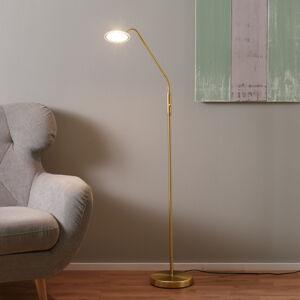 Wofi Stojací LED svítidlo Twin, 1bodové, mosaz