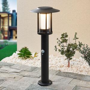 Lindby Lindby Volki LED solární světlo na soklu, senzor