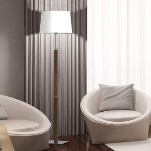 Aluminor Aluminor Quatro Up stojací lampa dub šedý/chrom