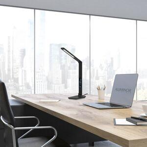 Aluminor Aluminor Sandra LED stolní lampa s hodinami, černá