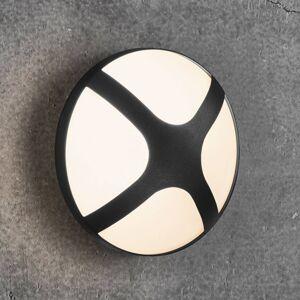 Nordlux Venkovní nástěnné světlo Cross černá, Ø 20,5 cm