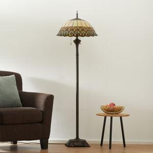 Clayre & Eef Frieda - stojací lampa se stínidlem Tiffany