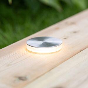 Markslöjd Garden 24 LED spotlight stříbrná svítí bočně Ø6cm