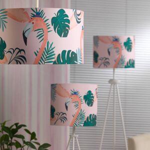 EULUNA Závěsné světlo Flamingo, barevné textilní stínidlo