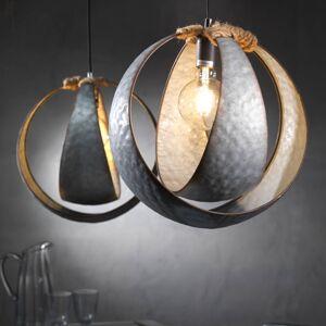 EULUNA Závěsné světlo Kimia z kovu s provazovou dekorací