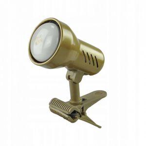 EULUNA Světlo se svorkou KM Gold, kabel a zástrčka, E14