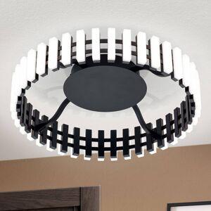 Orion LED stropní světlo Mansion, černobílá Ø 43 cm