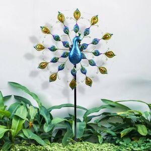 Globo LED solární světlo 33878 s modrým pávem