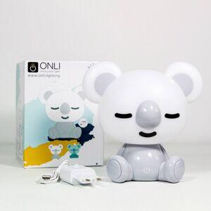 EULUNA LED stolní lampa Koala, bílá/šedá