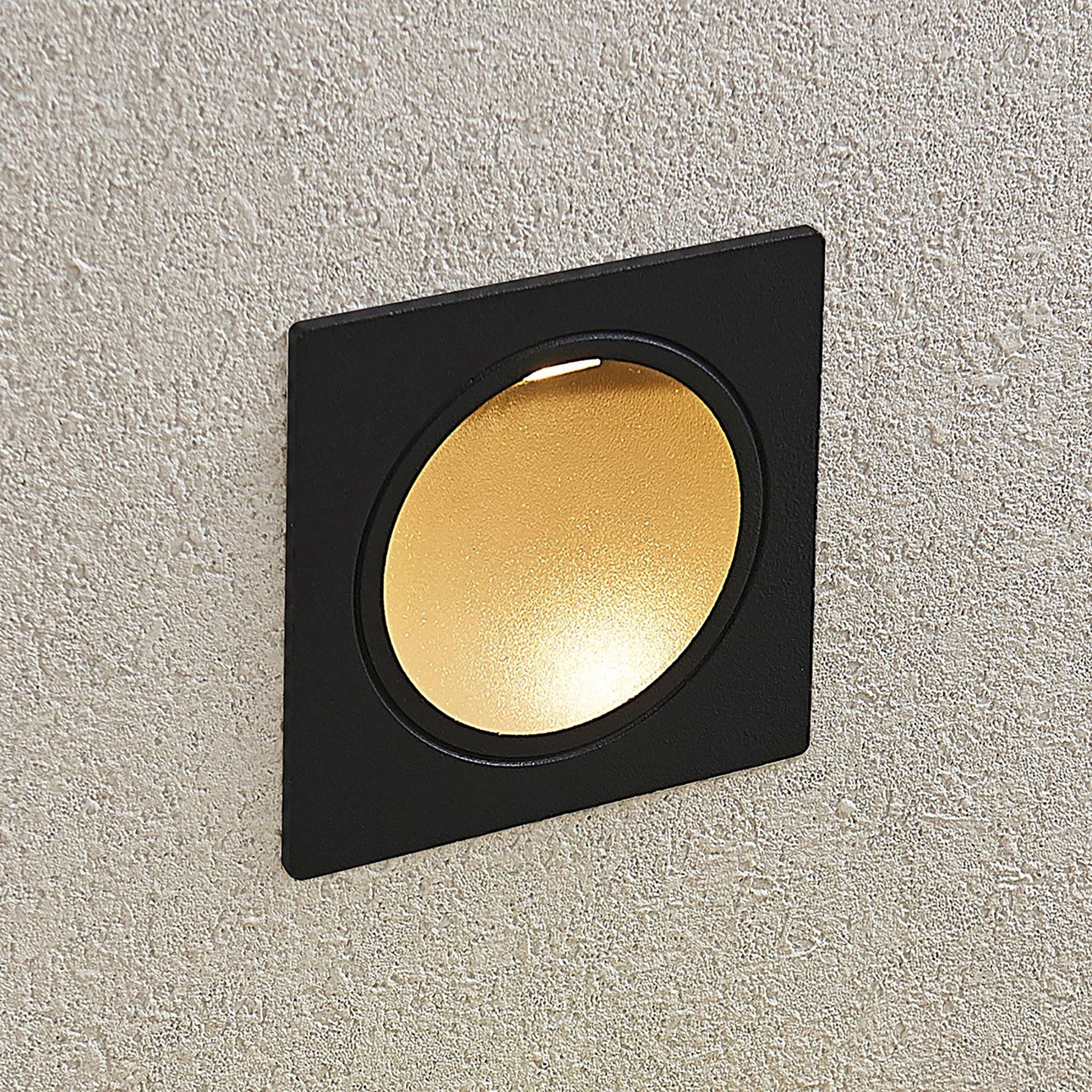 Lucande LED nástěnné vestavné svítidlo Pordis IP65 hranaté