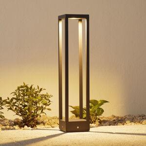 Lucande LED osvětlení cest Carlota, tmavě šedé, 65cm