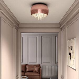 Lucande Lucande Elinara křišťálové stropní světlo, 5, měď