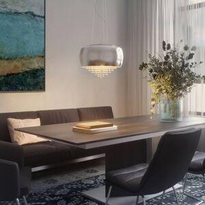 Lucande Lucande Elinara křišťálové závěsné světlo, chrom