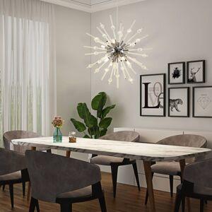 Lucande Lucande Kirai závěsné světlo ze skla, 8 zdrojů