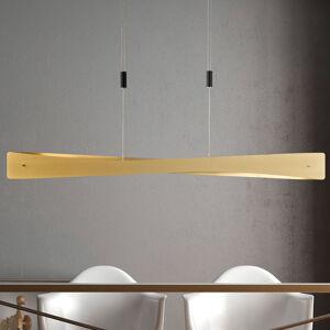 Lucande Lucande Lian LED závěsné světlo, mosaz, černá