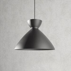 Lampenwelt.com Závěsné světlo Sakura tmavě šedé, 30cm