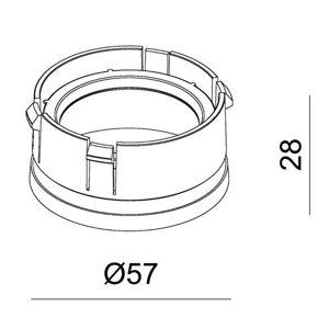 Deko-Light Reflektorový kruh pro řadu svítidel Klara stříbrná