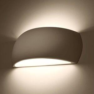 EULUNA Nástěnné světlo Curve up/down z bílé Keramik